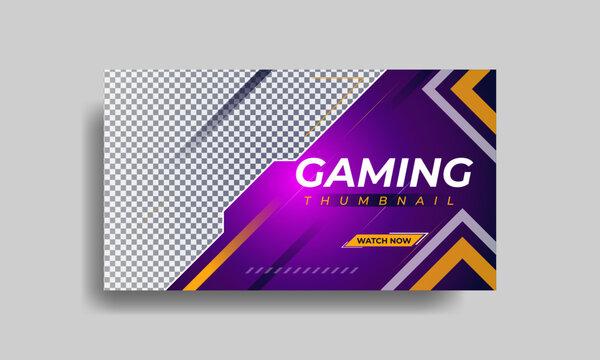 Gaming youtube thumbnail template design