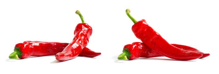 verse rode hete peper op een wit