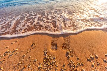 Beautiful beach coast in the Red Sea, Egypt.