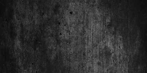 Obraz black wall texture for background, dark concrete or cement floor old black with elegant vintage distressed grunge texture and dark gray charcoal color paint - fototapety do salonu