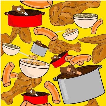 cooking pattern 3