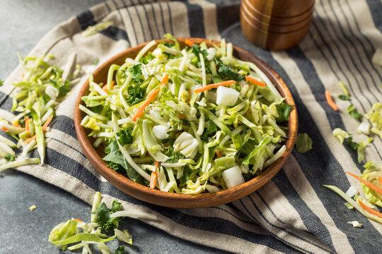 Healthy Homemade Shredded Cabbage Vegetable Power Blend