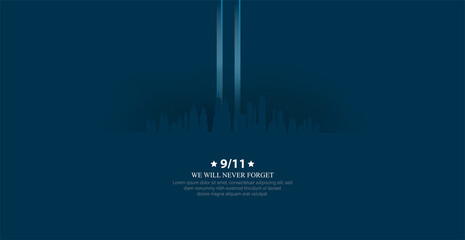 Patriot day USA.We will never forget. September 11