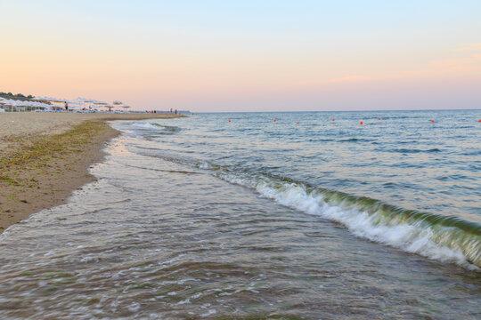 Black sea bugaz beach near Odessa, Ukraine