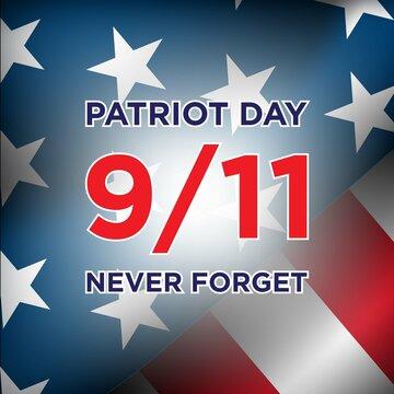 Patriot Day Background Design. Vector Illustration.
