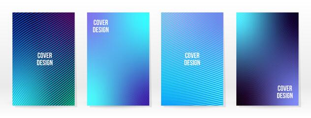 Obraz Minimal Poster. Pastel Soft. Blue Gradient Set. - fototapety do salonu