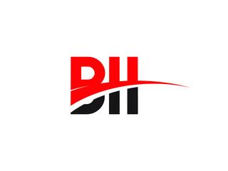 BII Letter Initial Logo Design Vector Illustration