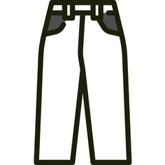 trouser one color icon