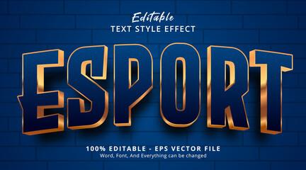 Fototapeta Editable text effect, E Sport text on logo gaming style effect obraz