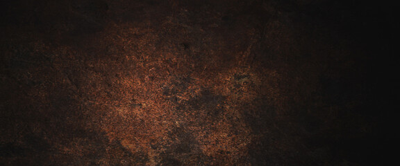 Obraz Dark grunge background with scratches, Scary red dark walls, concrete cement texture for background - fototapety do salonu