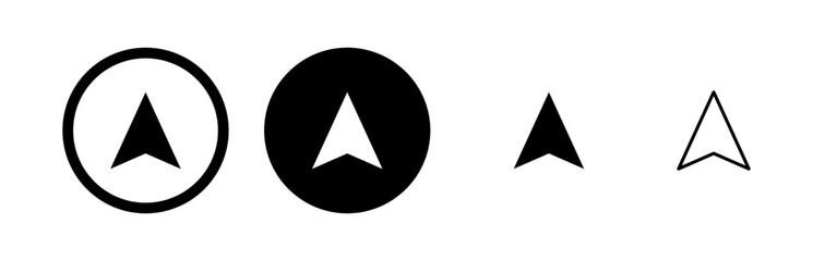 Obraz Compass vector icons set. Compass icon vector - fototapety do salonu