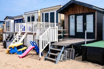 Beach houses, Wijk aan Zee, Noord-Holland province, The Netherlands