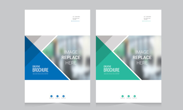 Abstract brochure template, cover design annual report, magazine