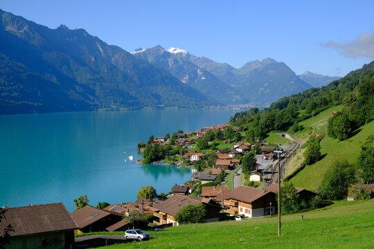 Oberreid lakefront and Brienzersee, Switzerland