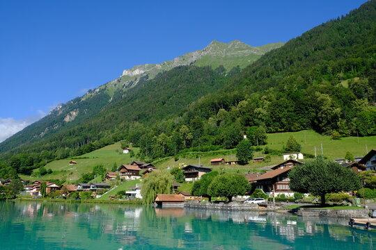 Oberreid village and mountains, Brienzersee, Switzerland