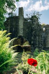 Old historic castle in Rudyard, Leek, UK