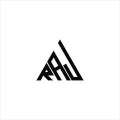 Obraz RAJ letter logo creative design. RAJ unique design  - fototapety do salonu