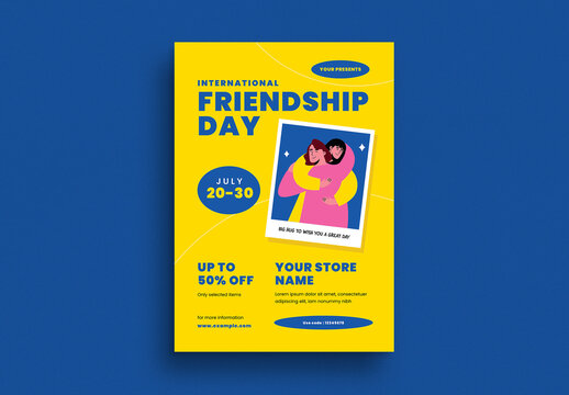 Friendship Day Event Flyer Layout