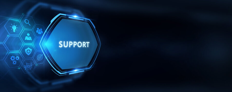 Business, Technology, Internet and network concept. Technical Support Center customer service.