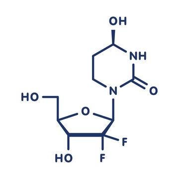 Cedazuridine drug molecule, illustration