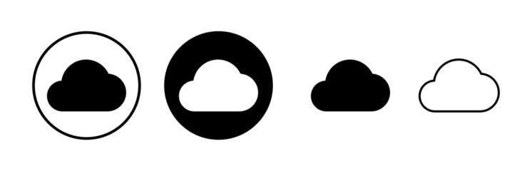 Obraz Cloud icons set vector. cloud computing icon - fototapety do salonu