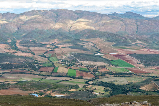 Landscape in Matjies River Valley as from the Swartberg Pass