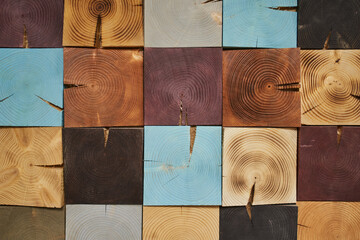 set of wood textures. beautiful wooden cubes of different colors, stacked in the background, beautiful under, wood