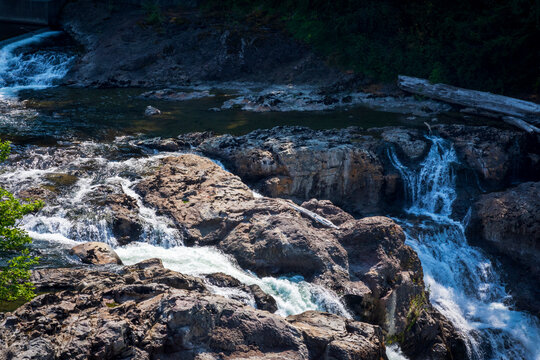 beautiful Snoqualamie Falls just outside of Seattle, Washington