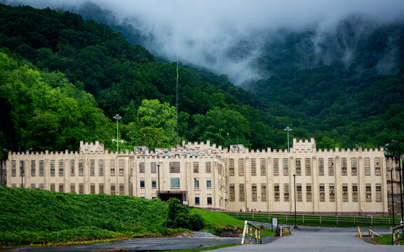 an old abandoned prison in the Great Smoky Mountains