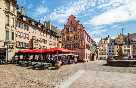 Central square of Mulhouse, France