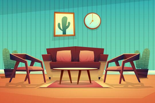Scene interior decorated living room with sofa