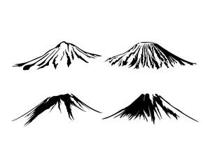 Obraz Mountain Logo design vector silhouette - fototapety do salonu