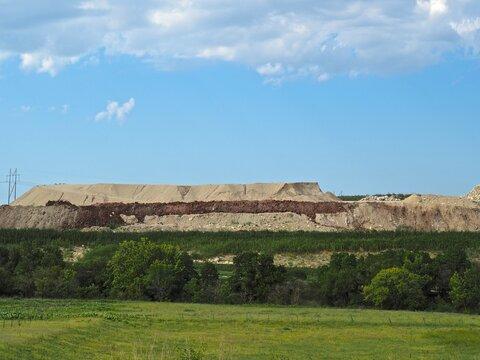 Quarry in the Flint Hills of Kansas.
