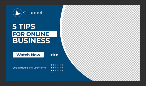 Editable Creative corporate social media web banner and youtube thumbnail template | Youtube live stream video thumbnail for marketing agency | video thumbnail | Youtube thumbnail