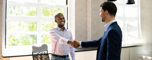 Obraz Job Recruiter Employment Interview Approval - fototapety do salonu