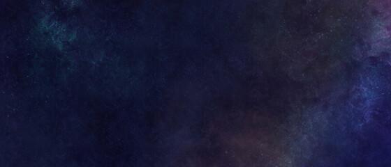 Obraz 暗い星空のイラスト背景 バナー 夜 グラデーション 星雲 綺麗 繊細 光 宇宙 ダーク 水彩 - fototapety do salonu