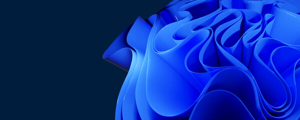 abstract background with glossy blue curves