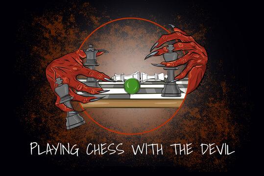 Drawing (in german Zeichnung) – Da hat der Teufel seine Hände im Spiel (in english Playing Cards with the Devil)