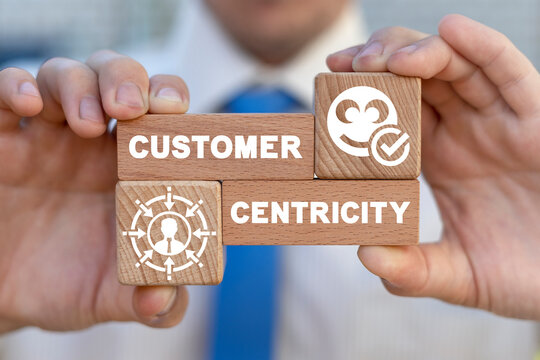 Business concept of customer centricity. Consumer first orientation.