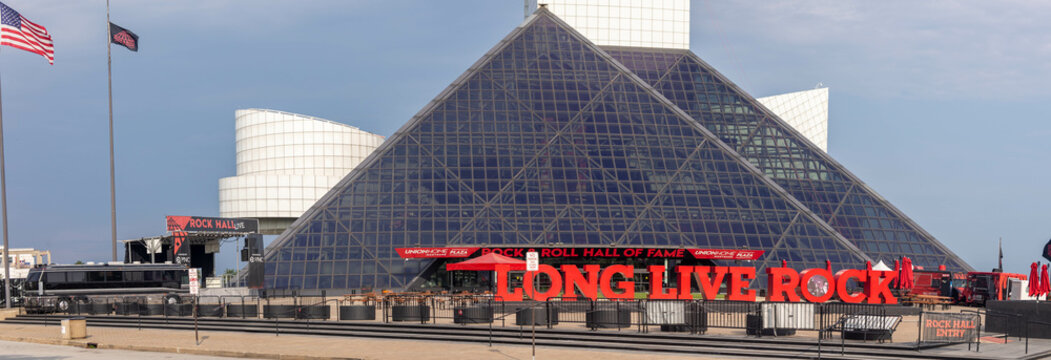Front of the Rock and Roll Hall of Fame Museum