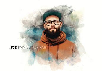 Fototapeta Paint Art Portrait Effect obraz