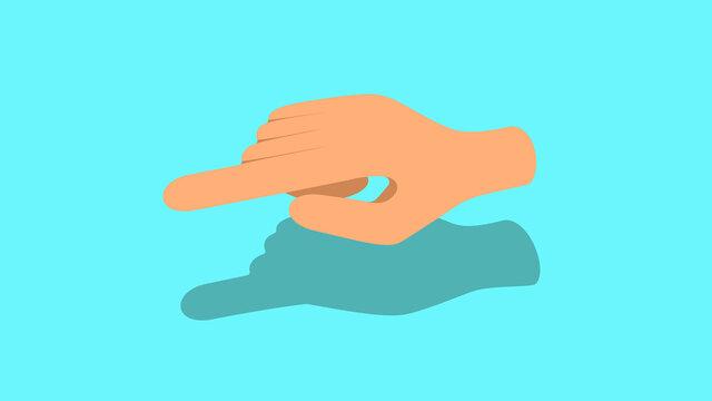 Index finger pointing something 3d illustration