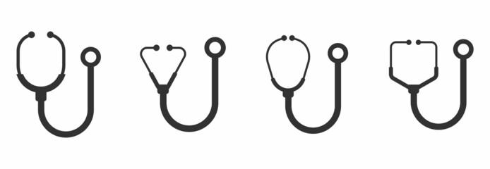 stethoscope icon set vector sign symbol