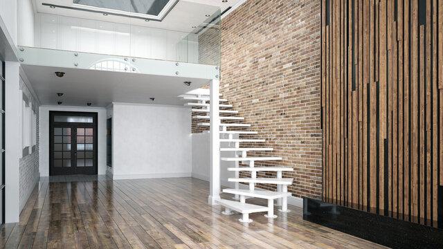 modern empty living interior.