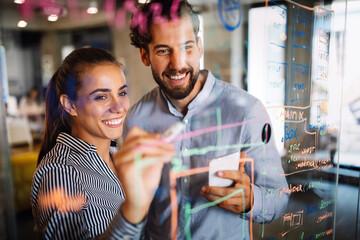 Fototapeta Technology software business office programming people concept obraz
