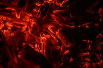 żarzące się drewno w ogniu
