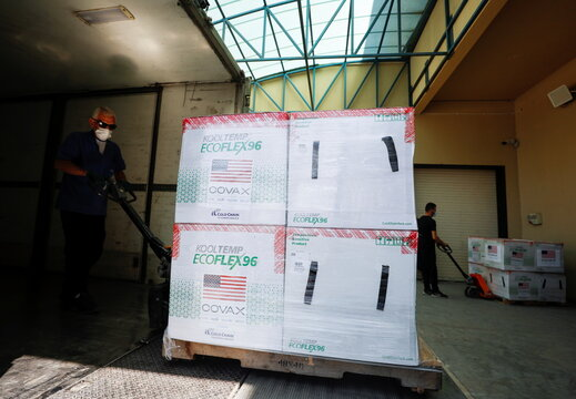 Palestinians receive COVID-19 vaccine shipment from the U.S