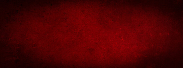 Red black stone concrete paper texture background panorama banner long, with space for text