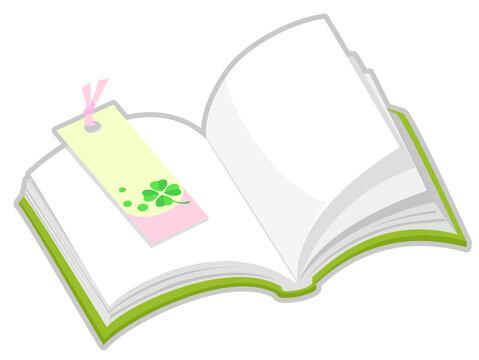読書の秋 本としおり 秋の風物詩アイコン/イラスト素材