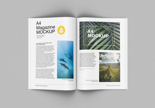 Top View Matte Magazine Mockup
